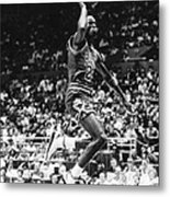 Michael Jordan Gliding Metal Print by Retro Images Archive