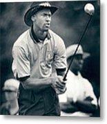 Michael Jordan Looks At Golf Shot Metal Print by Retro Images Archive