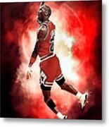 Michael Jordan Metal Print by NIcholas Grunas Cassidy