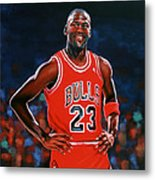 Michael Jordan Metal Print by Paul Meijering