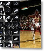 Michael Jordan Shoes Metal Print by Joe Hamilton