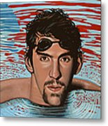 Michael Phelps Metal Print by Paul Meijering