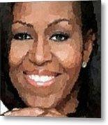 Michelle Obama Metal Print by Samuel Majcen
