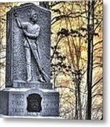 Michigan At Gettysburg - 5th Michigan Infantry Sunrise And Morning Mist In The Rose Woods Metal Print by Michael Mazaika