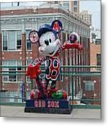 Mickey Loves Bosotn Metal Print by Jml