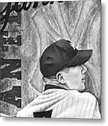 Mickey Mantle Metal Print by Scott  Hubbert