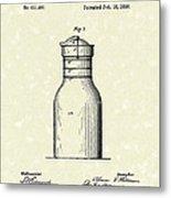Milk Jar 1890 Patent Art Metal Print by Prior Art Design