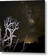 Milky Way Over Arches National Park Metal Print by Adam Romanowicz