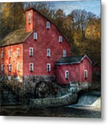 Mill - Clinton Nj - The Old Mill Metal Print by Mike Savad