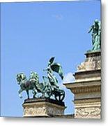 Millennium Monument In Budapest Metal Print by Artur Bogacki