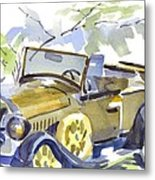 Mimosa Tree With Model A Metal Print by Kip DeVore