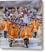 Mini Scooters Metal Print by Marion Galt