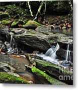 Mini Waterfalls Metal Print by Kaye Menner