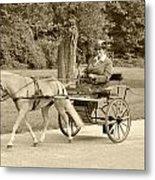 Miniature Two Wheel Cart Metal Print by Wayne Sheeler