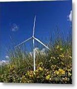 Miniature Wind Turbine In Nature Metal Print by Bernard Jaubert