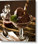 Mint Choc Chip Ice Cream Metal Print by Amanda And Christopher Elwell