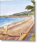 Mission Beach San Diego Metal Print by Mary Helmreich
