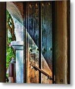 Mission Door Metal Print by Joan Carroll