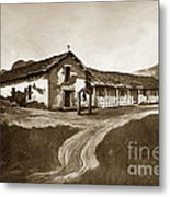 Mission San Rafael California  Circa 1880 Metal Print by California Views Mr Pat Hathaway Archives