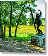 Mississippi Memorial Gettysburg Battleground Metal Print by Bob and Nadine Johnston
