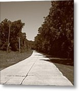 Missouri Route 66 2012 Sepia. Metal Print by Frank Romeo