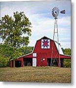 Missouri Star Quilt Barn Metal Print by Cricket Hackmann