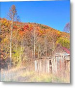 Misty Fall Morning In The Valley - North Georgia Metal Print by Mark E Tisdale