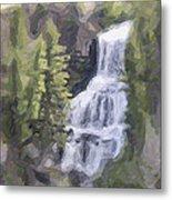 Misty Falls Metal Print by Jo-Anne Gazo-McKim