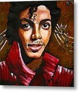 MJ Metal Print by RiA RiA