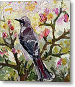 Mockingbird By My Window Metal Print by Ginette Callaway