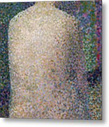 Model From The Back Metal Print by Georges Pierre Seurat
