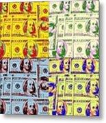 Modern Art Money Metal Print by Kenneth Summers