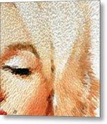 Modern Marilyn - Marilyn Monroe Art By Sharon Cummings Metal Print by Sharon Cummings