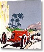 Monaco Grand Prix 1934 Metal Print by Georgia Fowler