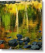 Monet Autumnal 02 Metal Print by Aimelle