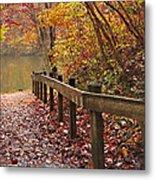 Monet's Trail Metal Print by Debra and Dave Vanderlaan