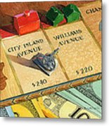 Monopoly On City Island Avenue Metal Print by Marguerite Chadwick-Juner