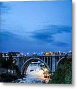 Monroe St Bridge At Sunset Metal Print by Daniel Baumer