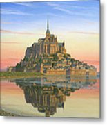 Mont Saint-michel Morn Metal Print by Richard Harpum
