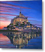 Mont Saint-michel Soir Metal Print by Richard Harpum