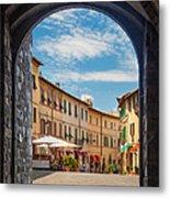 Montalcino Loggia Metal Print by Inge Johnsson