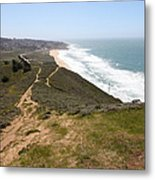 Montara State Beach Pacific Coast Highway California 5d22633 Metal Print by Wingsdomain Art and Photography