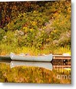 Montpelier Canoe Metal Print by Deborah Benoit
