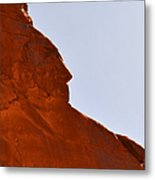 Monument Valley Indian Chief Metal Print by Christine Till