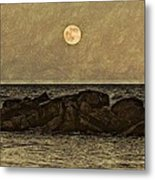 Moon Fishing Metal Print by Steven Parks