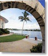 Moon Gate In Bermuda Metal Print by George Oze
