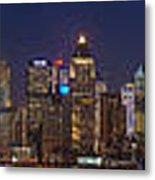 Moon Over Manhattan Metal Print by Mike Reid
