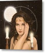 Moon Priestess Metal Print by John Silver