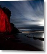 Moonrise At Clearville Beach Metal Print by Cale Best