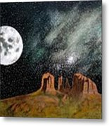 Moonrise Over Sedona Metal Print by John Lyes